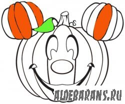 Раскраски : Minnie-Mickey-Halloween